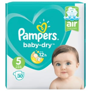 Pampers Baby Dry Junior Gr. 5 Sparpack 30 Stück