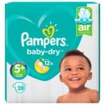 Pampers Baby Dry Gr.5+ Junior Plus 12-17kg Sparpack 28 Stück