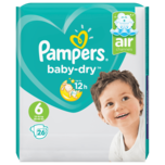 Pampers Baby Dry Windeln Gr.6 Extra Large 13-18kg 26 Stück