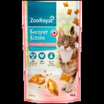 ZooRoyal Katzennahrung Knusperkissen mit Lachs 70g