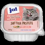 ja! Katzenfutter Pastete mit Lachs 100g