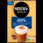 Nescafé Gold Typ Cappuccino Weniger Süß 10x12,5g