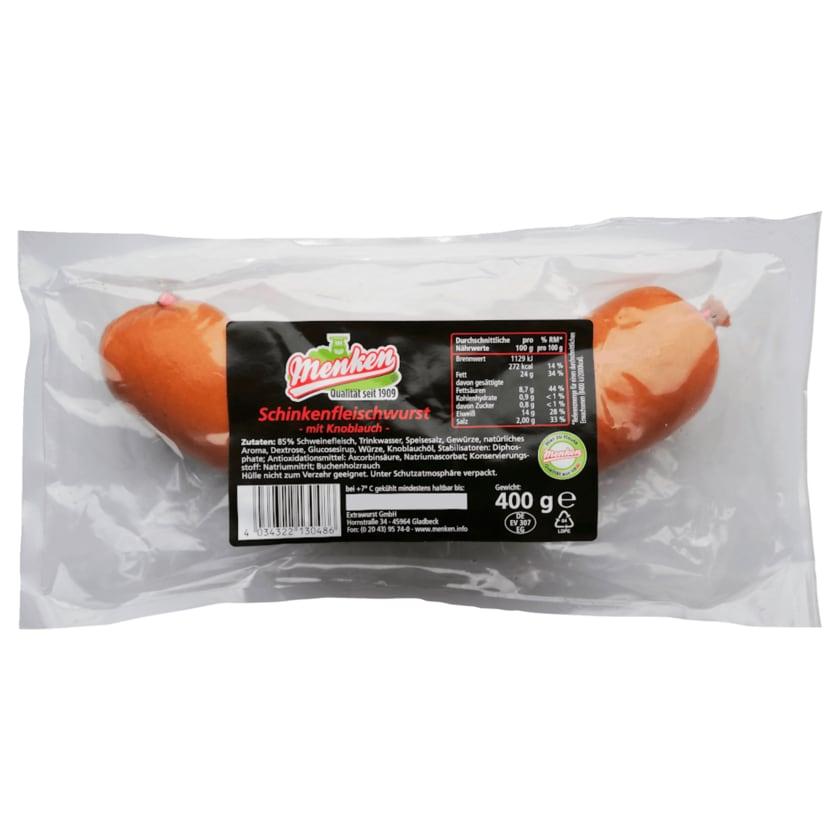 Menken Schinkenfleischwurst mit Knoblauch 400g