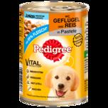 Pedigree Hundefutter Für Welpen mit Geflügel & Reis 400g