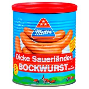 Metten Dicke Sauerländer Bockwurst 400g, 5 Stück