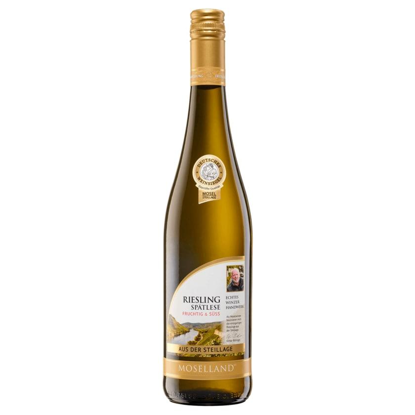 Moselland Weißwein Riesling Steillage Spätlese 0,75l