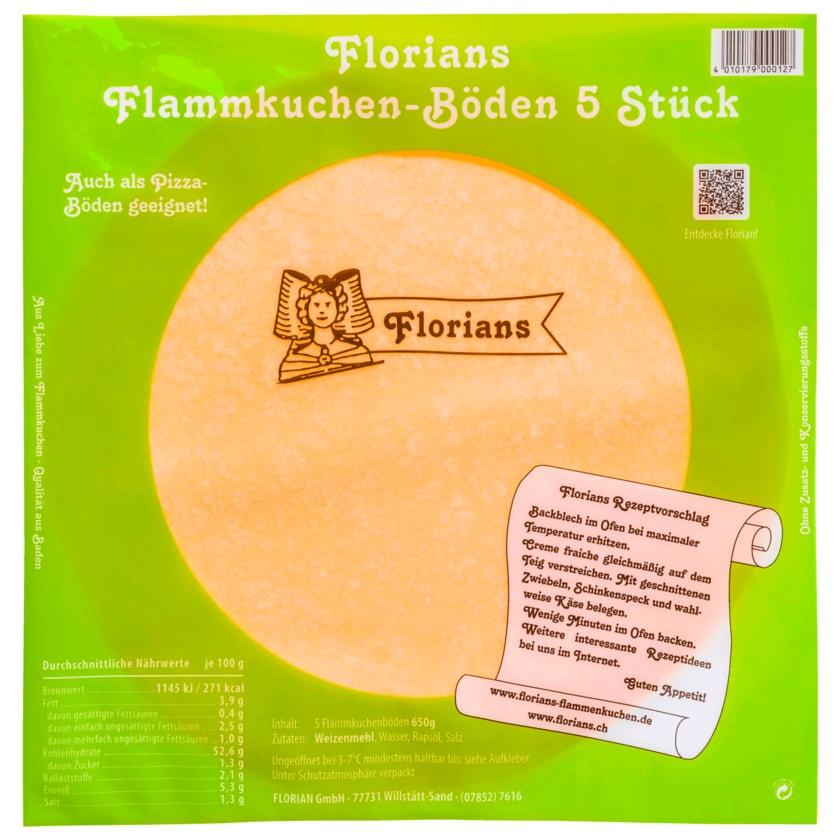 Florian's Flammkuchen-Böden rund 5x130 g