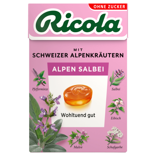 Ricola Alpen Salbei zuckerfrei 50g