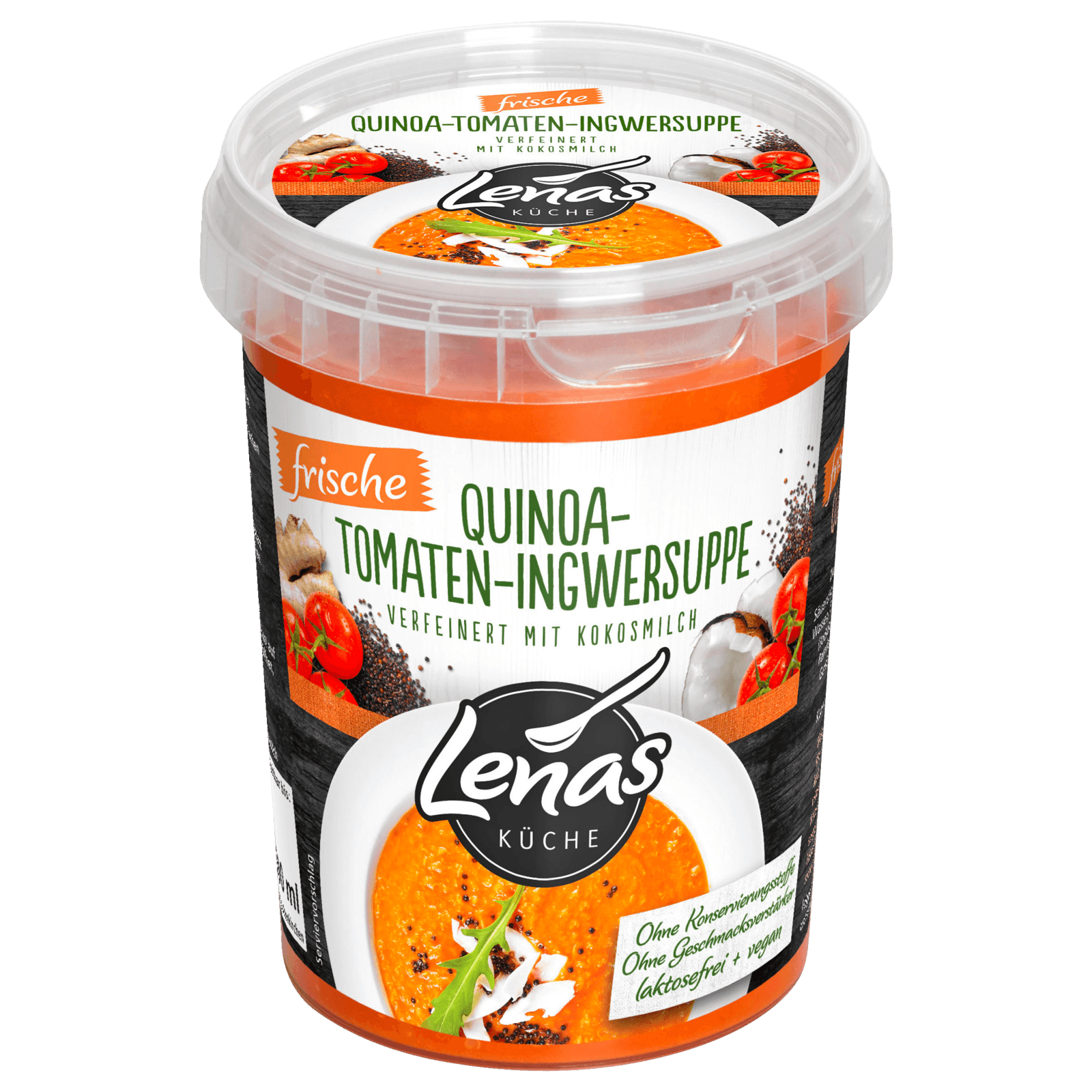 Lenas Küche Quinoa-Tomaten-Ingwer-Suppe 20g