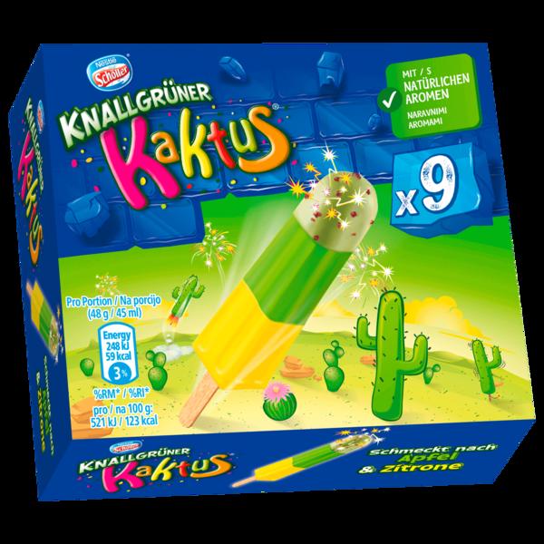 Nestlé Schöller Eis Knallgrüner Kaktus 9x45ml