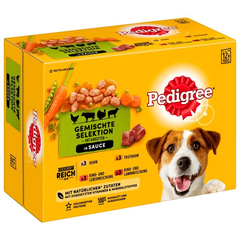 Pedigree Hundefutter Gemischte Selektion in Sauce 12x100g