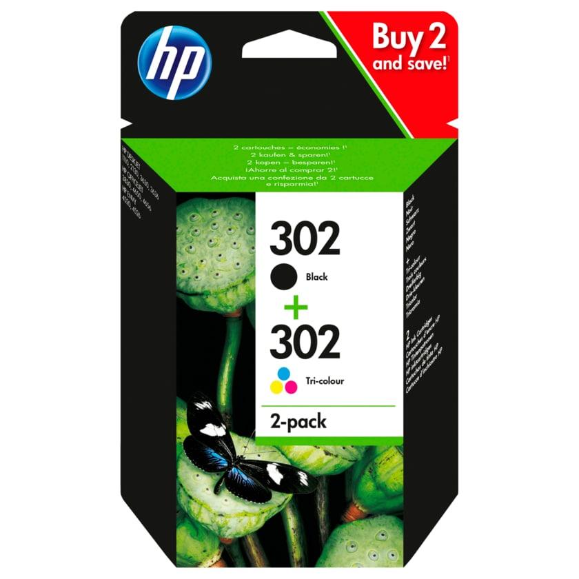 HP Tintenpatronen 302 2er-Set Schwarz und Farbe