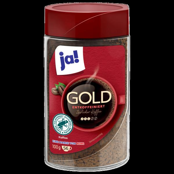 ja! Gold entkoffeiniert 100g