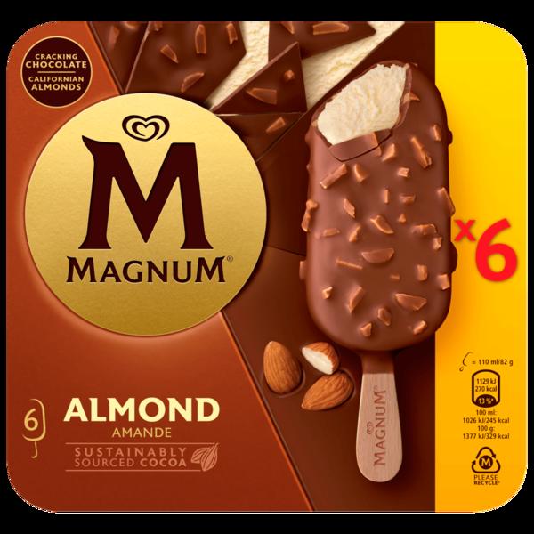 Magnum Mandel Familienpackung Eis 6 x 110 ml