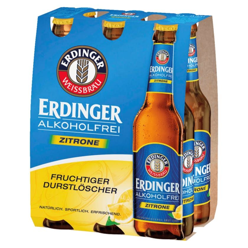 Erdinger Zitrone Alkoholfrei 6x0,33l