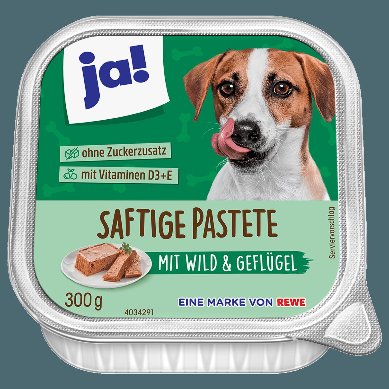 ja! Hundefutter Saftige Pastete mit Wild 300g