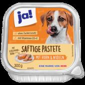 Ja! Hundefutter Schlemmerkern Pastete Huhn, Karotte und Nudeln 300g