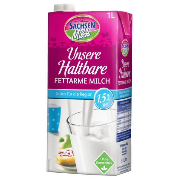 Sachsenmilch H-Milch 1,5% 1l