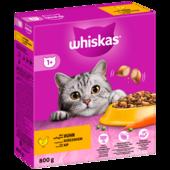 Whiskas Katzenfutter Trocken 1+ mit Huhn 800g