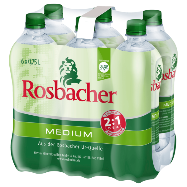 Rosbacher Mineralwasser Medium 6x0,75l