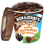 Ben & Jerry's Topped Salted Caramel Brownie Eis 470ml