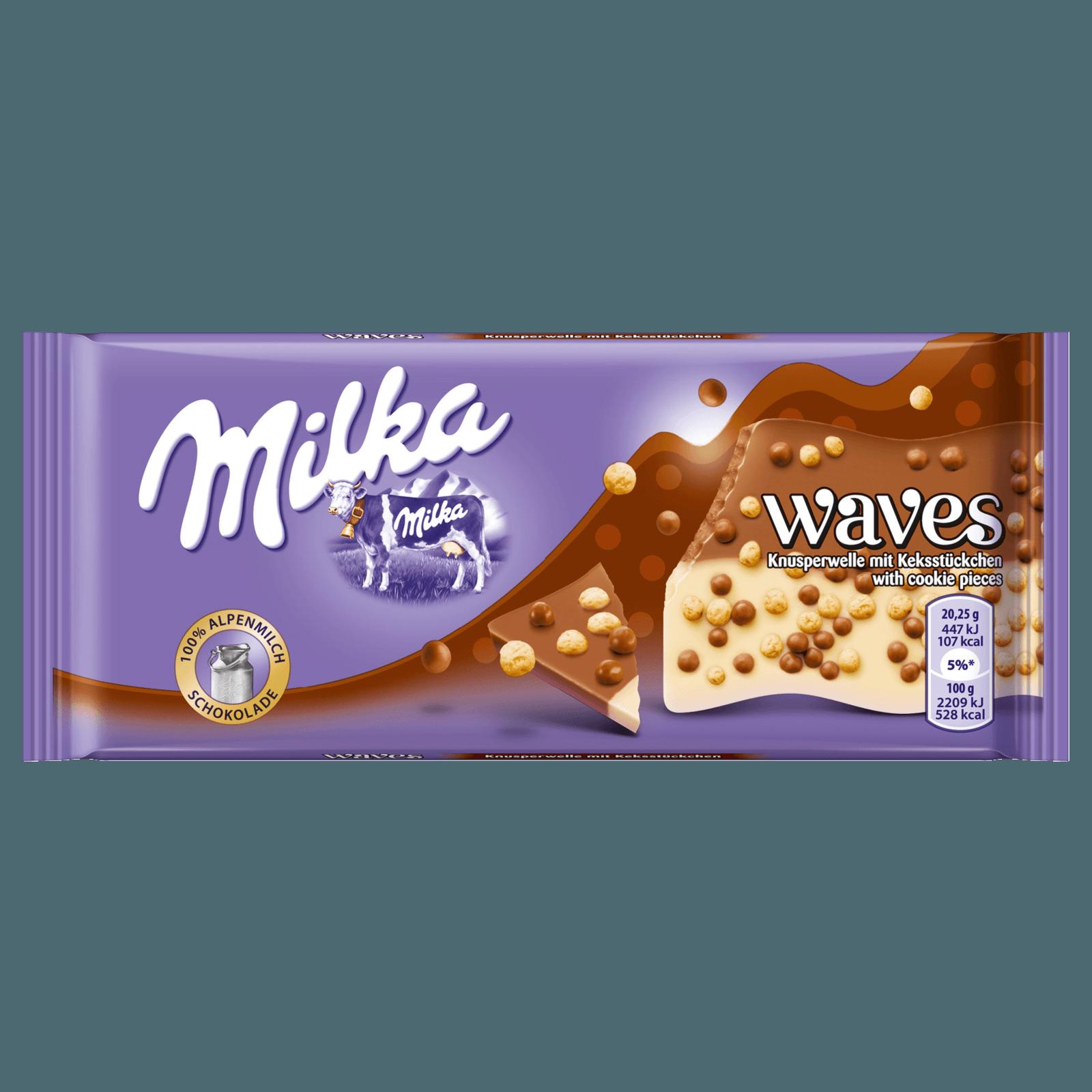 Milka Waves Knusper Kekse 81g