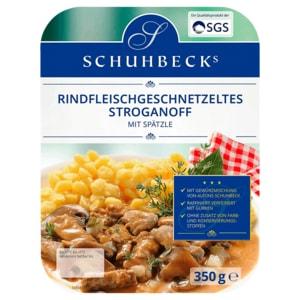 Schubecks Rindfleischgeschnetzeltes Stroganoff mit Spätzle 350g