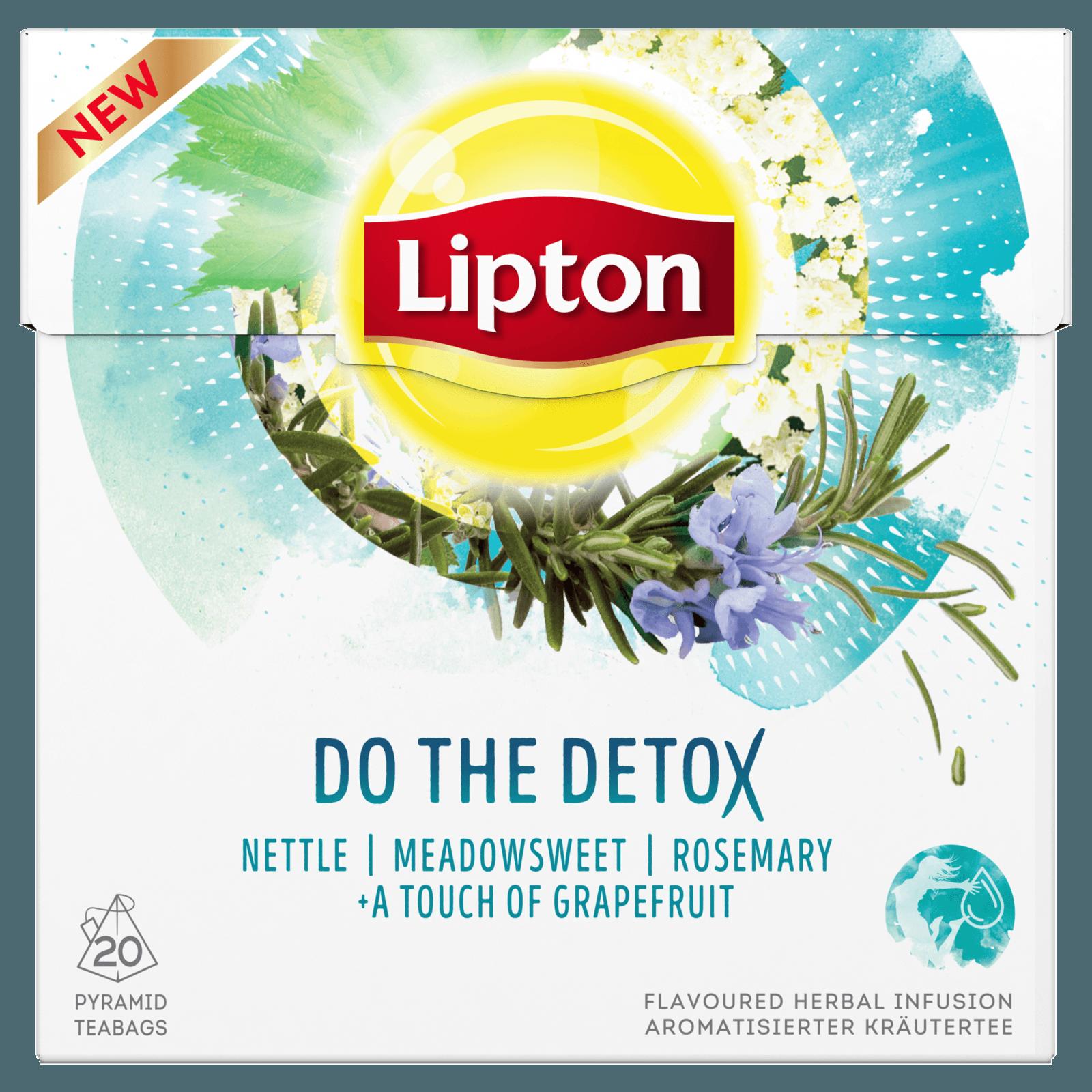 Lipton Kräutertee Do the Detox Pyramidenbeutel 30g, 20 Stück