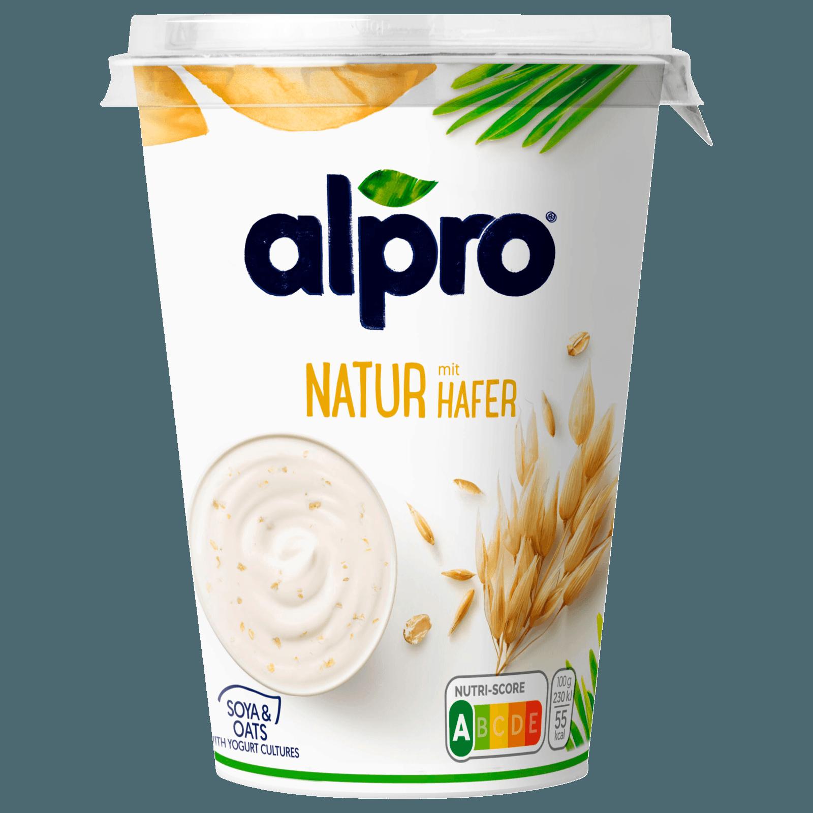 Alpro Soja-Joghurtalternative Natur mit Hafer 500g