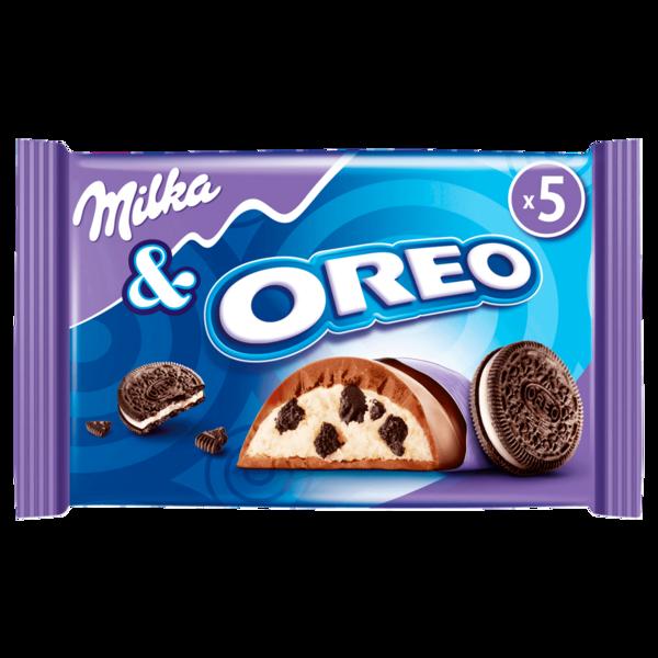 Milka & Oreo Riegel 185g, 5 Stück