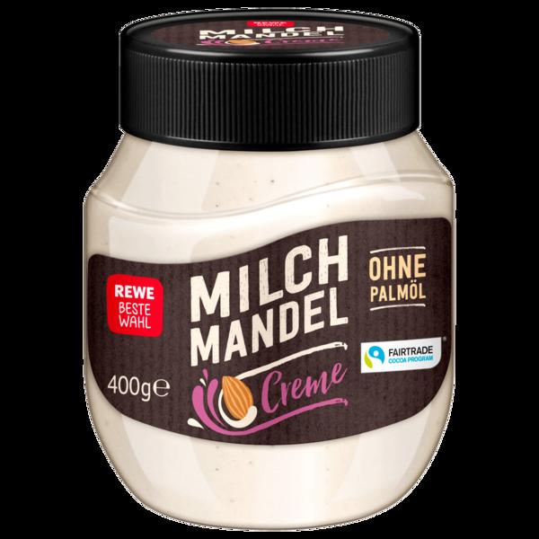 REWE Beste Wahl Milch Mandel Creme 400g