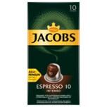 Jacobs Kaffeekapseln Espresso 10 Intenso, 10 Nespresso kompatible Kapseln