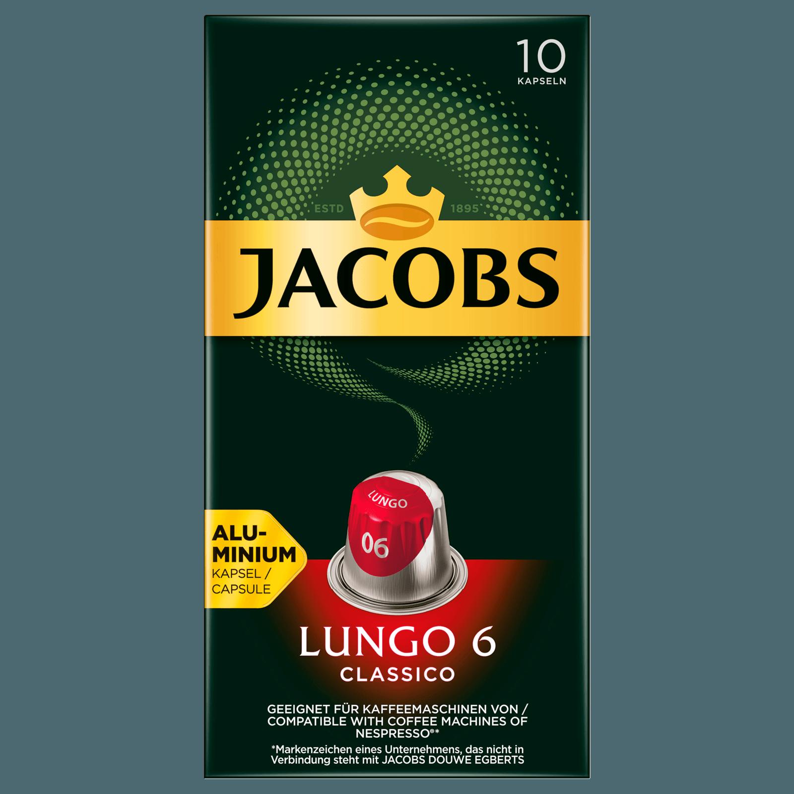 Jacobs Lungo 6 Classico 52g, 10 Kapseln