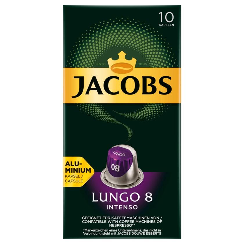 Jacobs Kaffeekapseln Lungo 8 Intenso, 10 Nespresso kompatible Kapseln