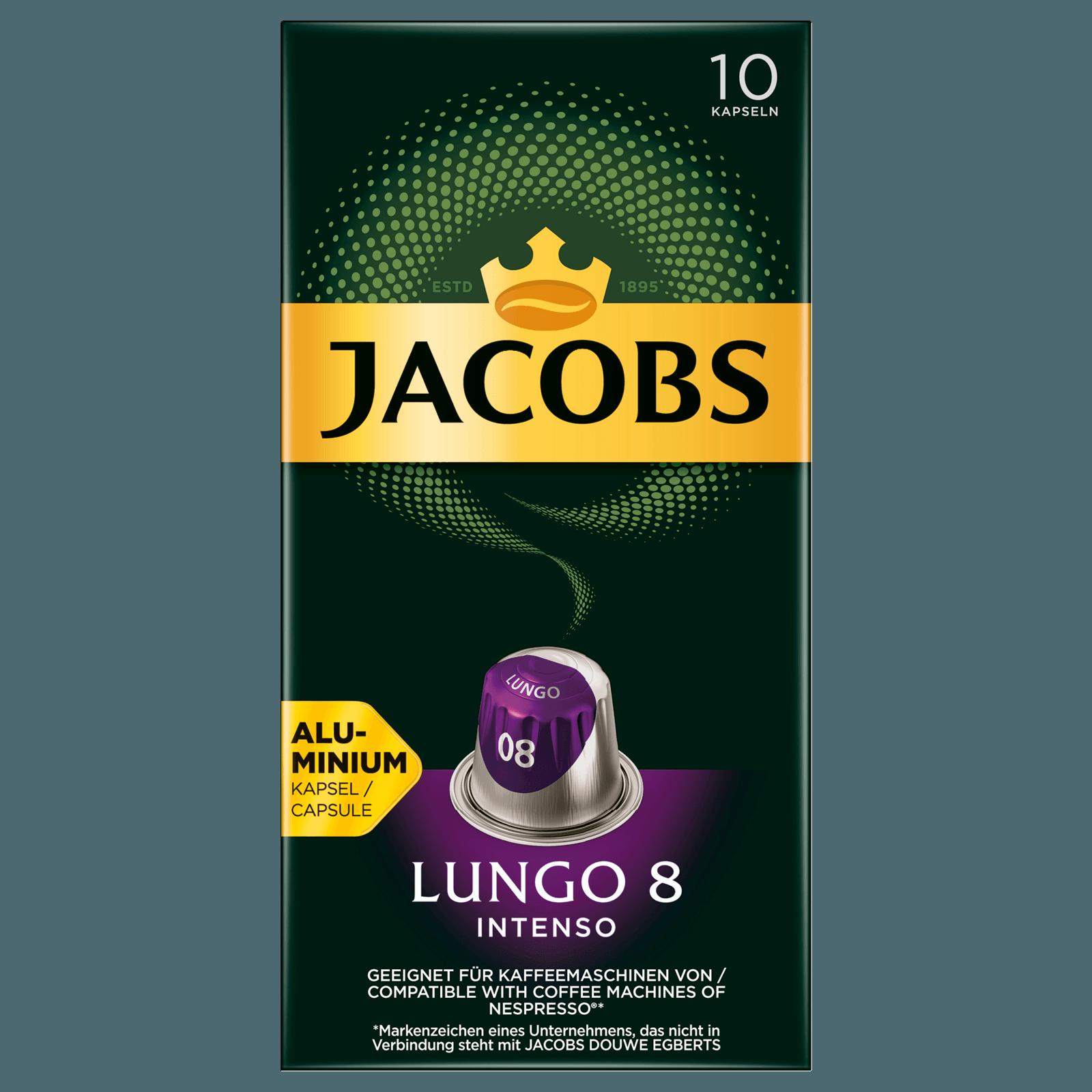 Jacobs Lungo 8 Intenso 52g, 10 Kapseln