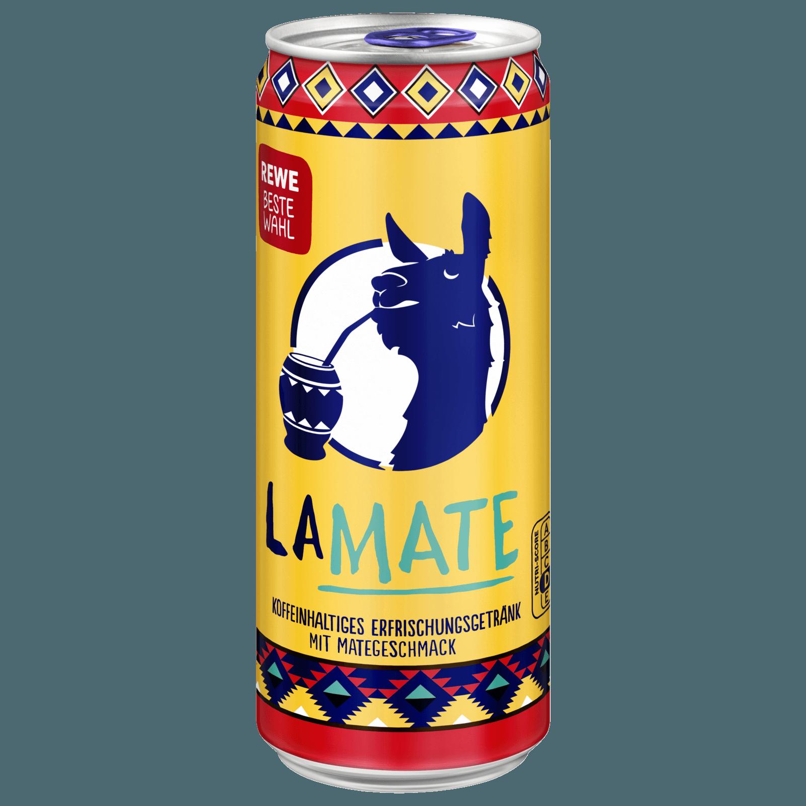 LaMate Koffeinhaltiges Erfrischungsgetränk mit Mategeschmack 0,3l