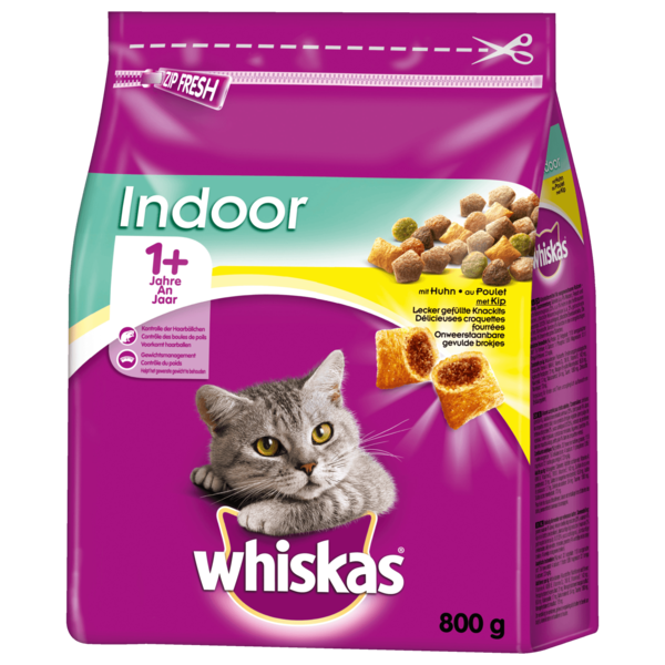 Whiskas Indoor 1+ mit Huhn 800g