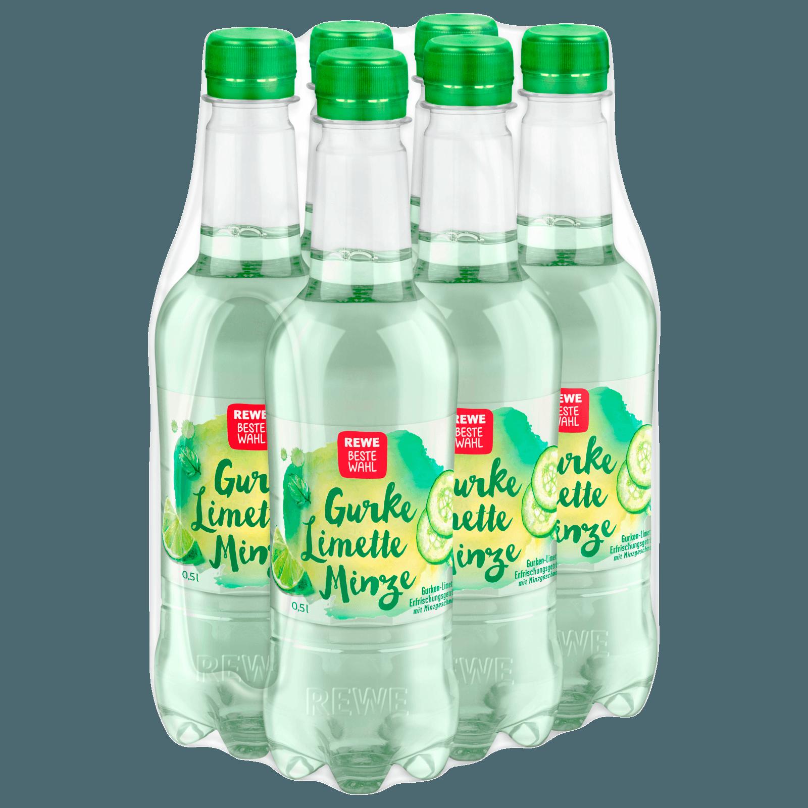 REWE Beste Wahl Gurke Limette Minze 6x0,5l