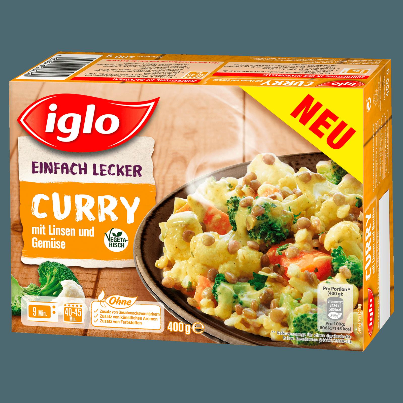 Iglo Curry Linsen Gemüse 400g bei REWE online bestellen!