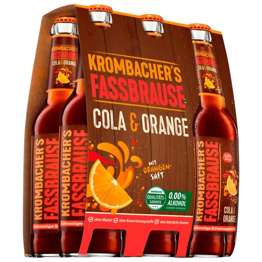 Krombacher Fassbrause Cola Orange 6x0,33l