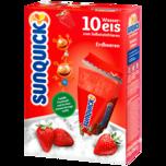 Sun Quick Wassereis Erdbeere 10x65g