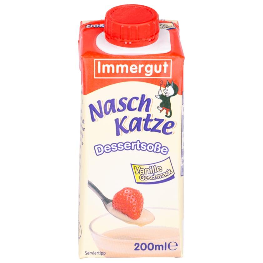 Immergut Naschkatze Dessertsoße Vanille 200ml