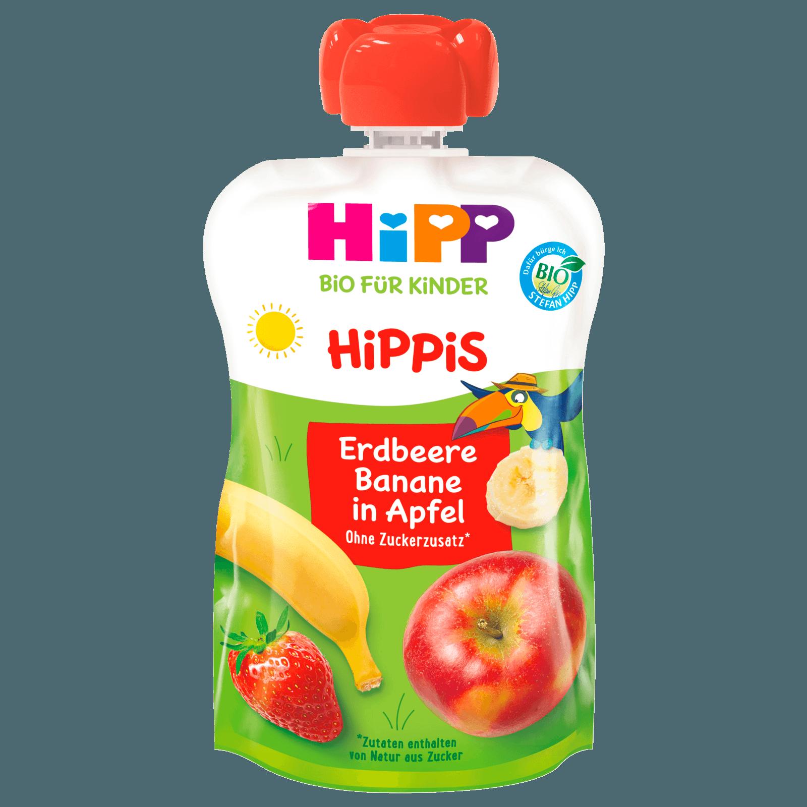 Hipp Hippis Ferdi Frosch Erdbeer-Banane in Apfel 100g