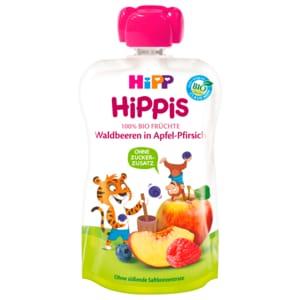 Hipp Hippis Thilo Tiger Waldbeeren in Apfel-Pfirsich 100g