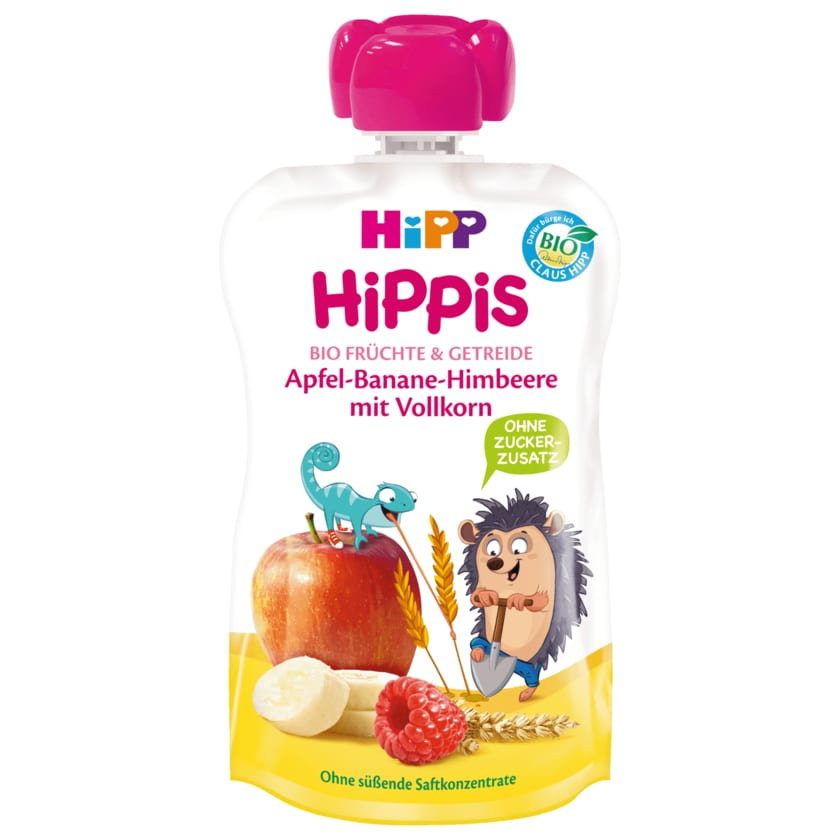 Hipp Hippis Ingo Bio Igel Apfel-Banane-Himbeere mit Vollkorn 100g