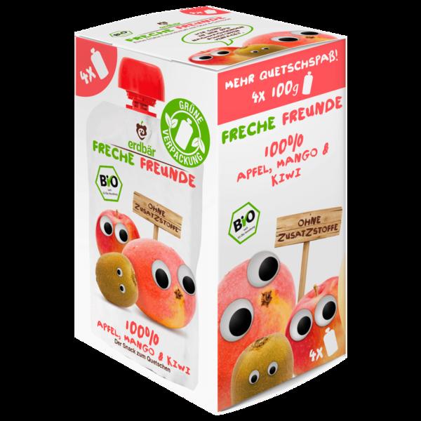 Erdbär Freche Freunde Apfel Mango und Kiwi 4x100g