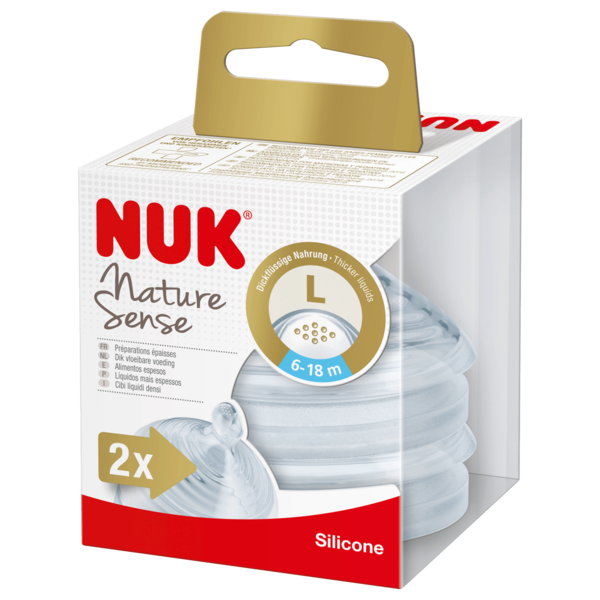 Nuk Nature Sense Silicone L 6-18 Monate 2 Stück