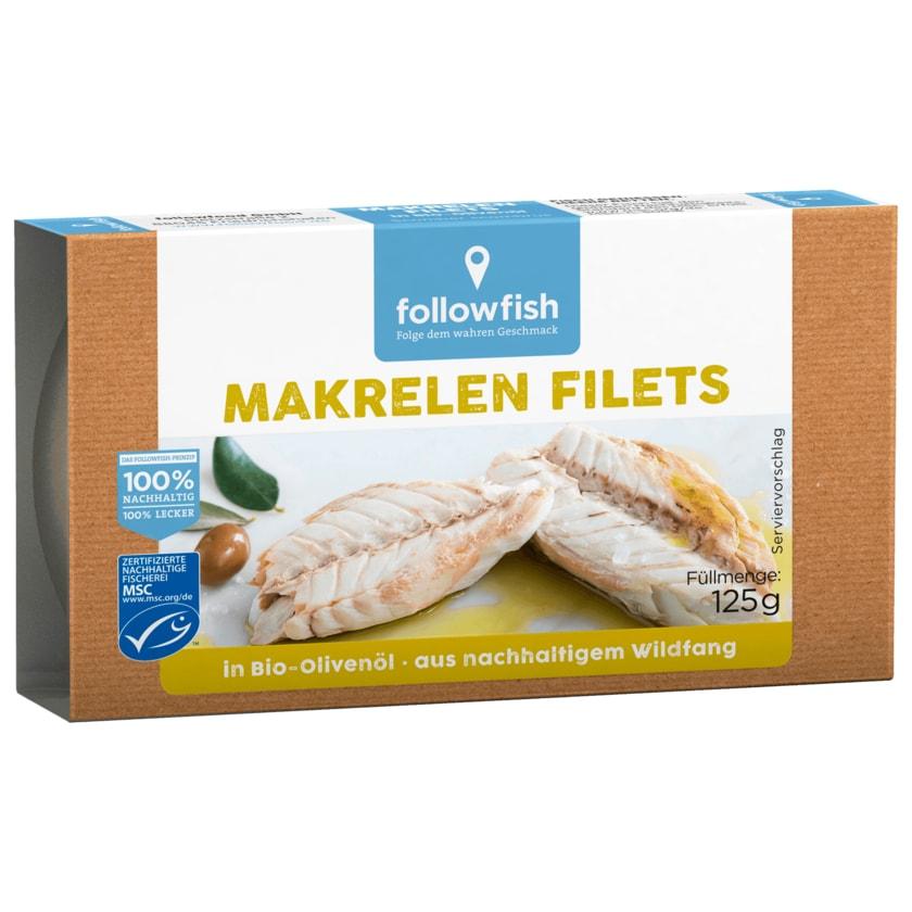 Followfish Makrelen Filets in Bio-Olivenöl 125g
