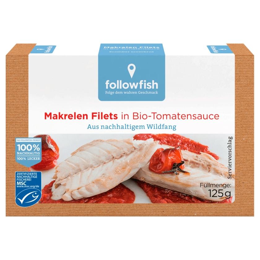 Followfish Makrelen Filets in Bio-Tomatensauce 125g