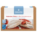 Followfish Makrelen Filets in Bio-Tomatensauce 125g